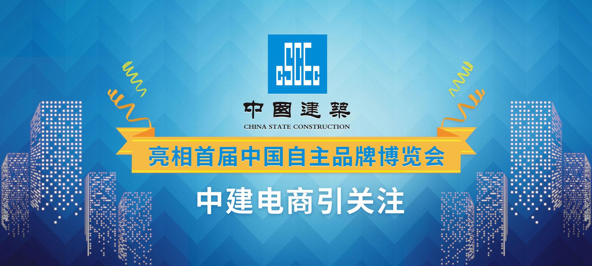 中国建筑亮相首届中国自主品牌博览会 中建电商引关注